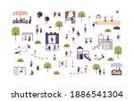 collection of cute boys and... | Shutterstock .eps vector #1886541304