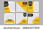 set of editable square banner... | Shutterstock .eps vector #1886547394