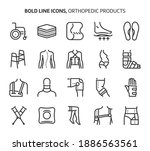 orthopedic products  bold line... | Shutterstock .eps vector #1886563561