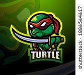 Ninja Turtle Mascot Esport Logo ...