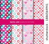 love symbol seamless pattern.... | Shutterstock .eps vector #1886564941