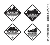 a set of alabama skyline... | Shutterstock .eps vector #1886569744