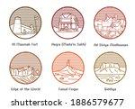 heritage and natural landmarks... | Shutterstock .eps vector #1886579677