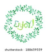 watercolor drawn word enjoy in... | Shutterstock . vector #188659559