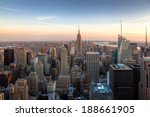 amazing new york city skyline   ... | Shutterstock . vector #188661905