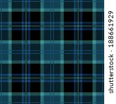 Tartan Plaid Blue Seamless Pattern Design - stock vector