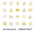 set of celebration thin line... | Shutterstock .eps vector #1886619667