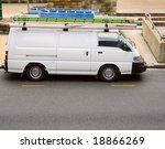 white trade van | Shutterstock . vector #18866269