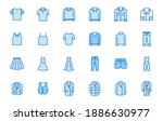 clothing line icon set. dress ... | Shutterstock .eps vector #1886630977