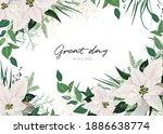 winter season invite  greeting  ... | Shutterstock .eps vector #1886638774
