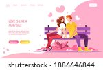 young couple in love sitting on ...   Shutterstock .eps vector #1886646844