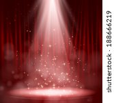 empty stage lit with lights on... | Shutterstock .eps vector #188666219