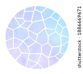 round mosaic watercolor... | Shutterstock . vector #1886669671