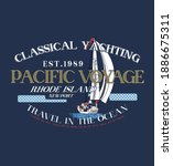 classical yachting. pacific... | Shutterstock .eps vector #1886675311