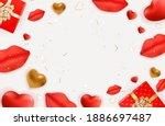 valentine's day background...   Shutterstock .eps vector #1886697487
