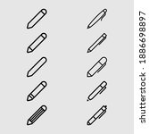 pen and pencil outline icon set ...   Shutterstock .eps vector #1886698897