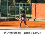 Caucasian Woman In Sportive...