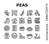 peas beans vegetable collection ... | Shutterstock .eps vector #1886720974