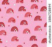 valentine day seamless pattern... | Shutterstock .eps vector #1886728894