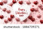 happy valentine's day...   Shutterstock .eps vector #1886739271