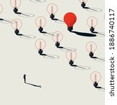 business creativity  finding... | Shutterstock .eps vector #1886740117