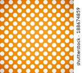 Summer Orange And White Polka...