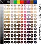 stock vector palette with hair... | Shutterstock .eps vector #1886749651