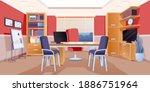 modern office of boss interior...   Shutterstock .eps vector #1886751964