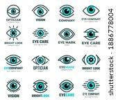 eyes symbols. medical logotypes ...   Shutterstock .eps vector #1886778004