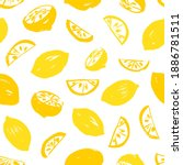 seamless hand drawn yellow...   Shutterstock .eps vector #1886781511