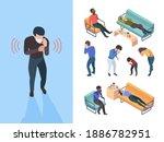 flu symptoms. sick people... | Shutterstock .eps vector #1886782951