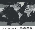 world map   america centered.... | Shutterstock .eps vector #1886787754