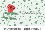 happy valentine day background... | Shutterstock .eps vector #1886790877