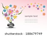 colorful flowers in a vase.... | Shutterstock .eps vector #188679749