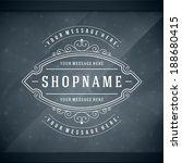 window advertising shop decals... | Shutterstock .eps vector #188680415