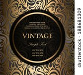 invitation vintage frame on... | Shutterstock .eps vector #188681309