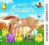 Easter Bunny Sleeping On Egg...
