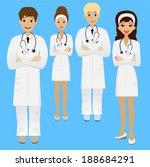 group young doctor  vector... | Shutterstock .eps vector #188684291
