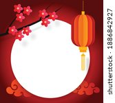 chinese new year greeting card  ... | Shutterstock .eps vector #1886842927