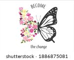 become the change monarch... | Shutterstock .eps vector #1886875081
