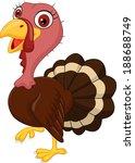 cute cartoon turkey | Shutterstock . vector #188688749