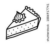 piece of pie freehand vector... | Shutterstock .eps vector #1886917741