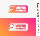 we are hiring vector label set | Shutterstock .eps vector #1886919874
