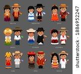 people in national dress.... | Shutterstock .eps vector #1886952247