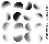 Abstract Halftone Circle Desig...
