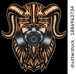 Strongest Viking With Gas Mask. ...