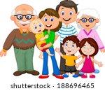 happy cartoon family  | Shutterstock . vector #188696465