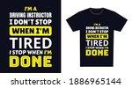 driving instructor t shirt...   Shutterstock .eps vector #1886965144