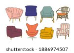 vector chair collection... | Shutterstock .eps vector #1886974507