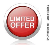 limited offer button | Shutterstock .eps vector #188698061